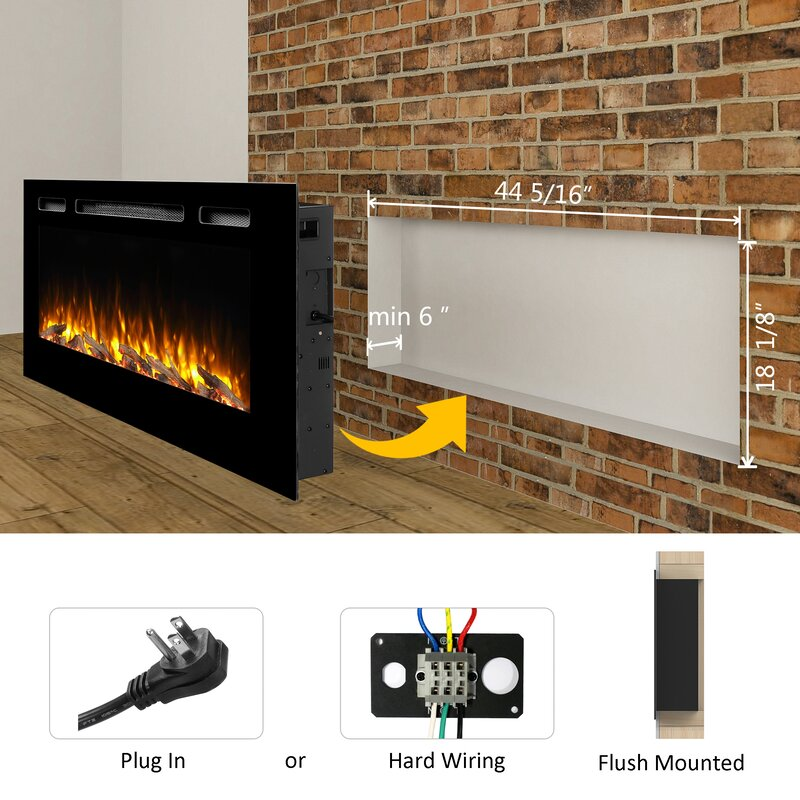 Fabulous Orren Ellis Iserman Wall Mounted Electric Fireplace Download Free Architecture Designs Itiscsunscenecom