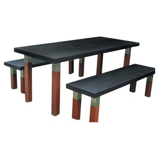 Modern Outdoor Kenji Stainless Steel Dining Table