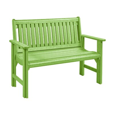 Alanna Plastic Garden Bench Color: Kiwi Green by Beachcrest Home