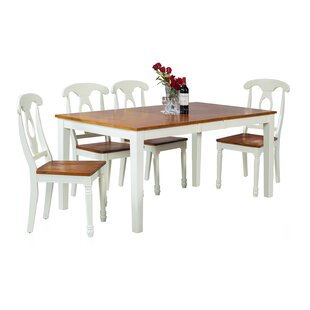 Downieville-Lawson-Dumont Modern 5 Piece Solid Wood Dining Set