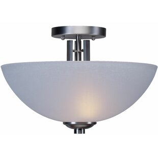 Waldschmidt 2-Light Semi Flush Mount by Winston Porter