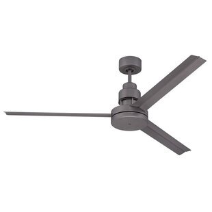 Modern sloped ceiling adaptable ceiling fans allmodern aube 54 3 blade ceiling fan with remote aloadofball Choice Image