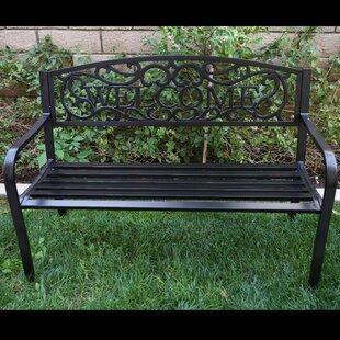 Belleze Blossoming Iron Garden Bench
