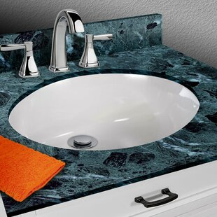 Compare prices Vitreous China Oval Undermount Bathroom Sink with Overflow By Miseno