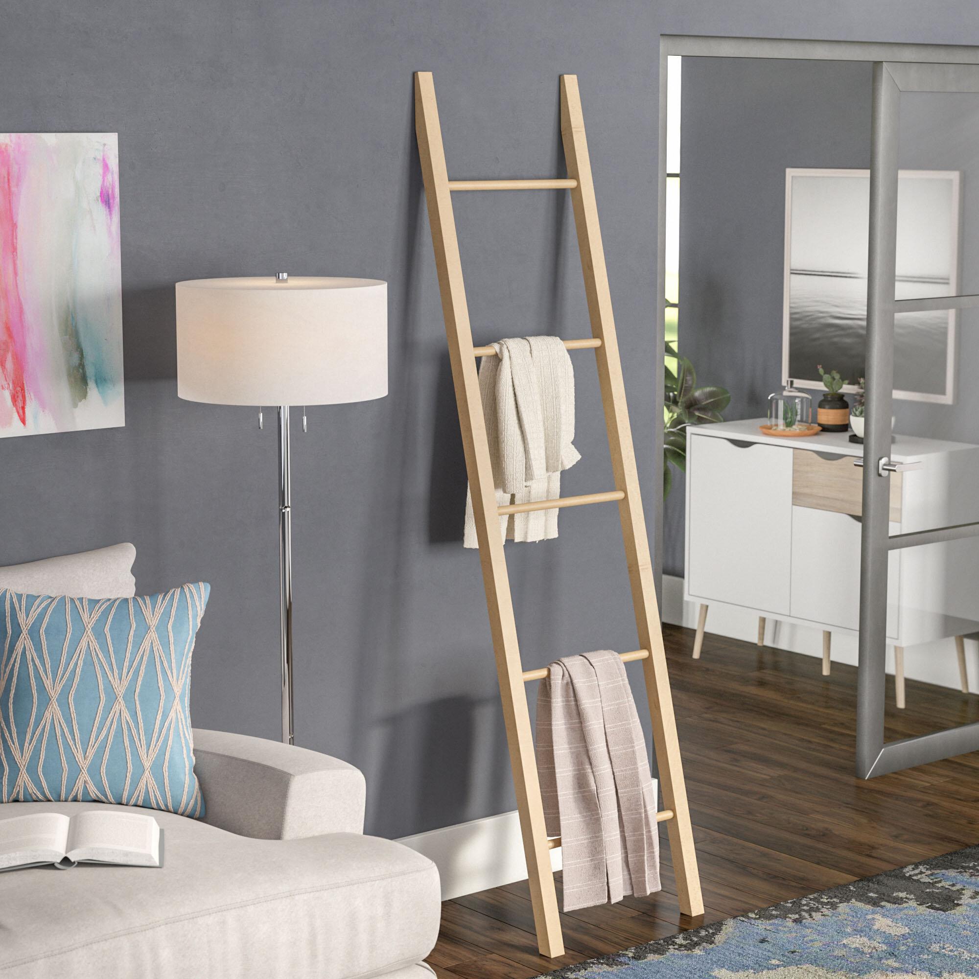 Latitude Run Solid American 6 7 Ft Blanket Ladder Reviews Wayfair