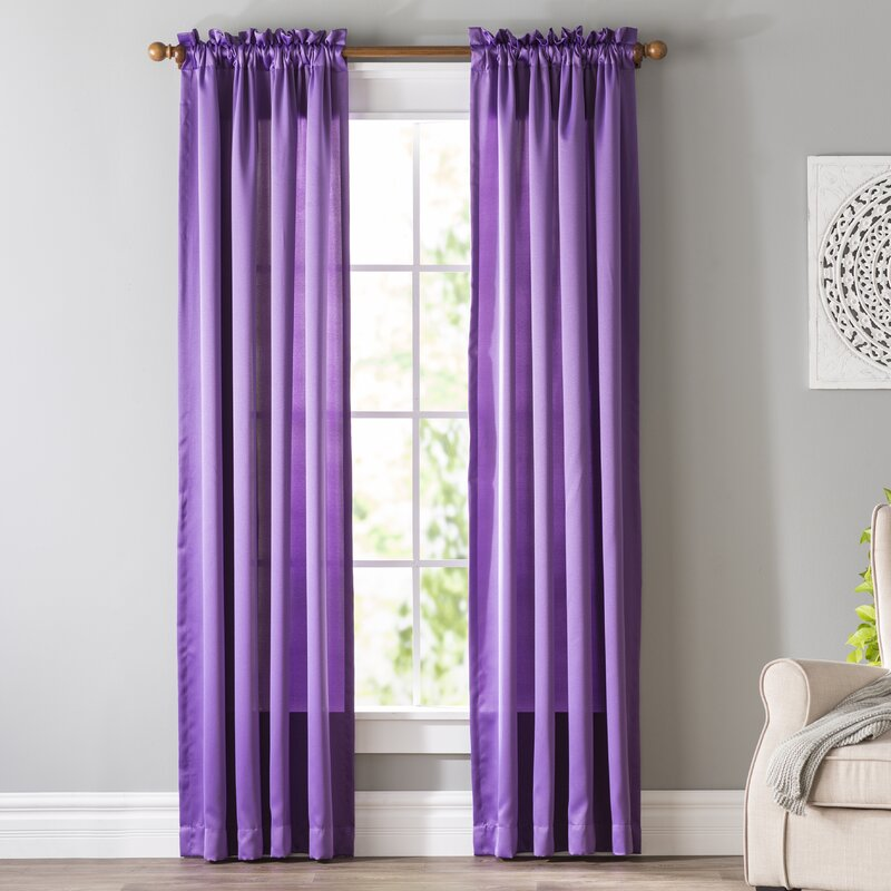 Wayfair Basics Solid Room Darkening Rod Pocket Single Curtain Panel