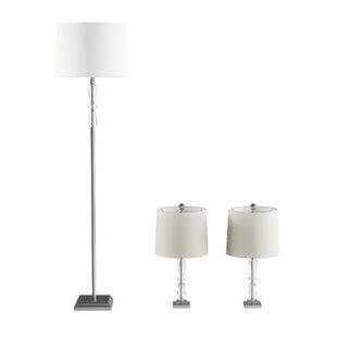 Liberatore 3 Piece Table and Floor Lamp Set