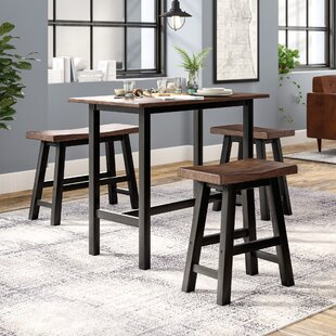 Swell Chelsey 4 Piece Solid Wood Dining Set Creativecarmelina Interior Chair Design Creativecarmelinacom