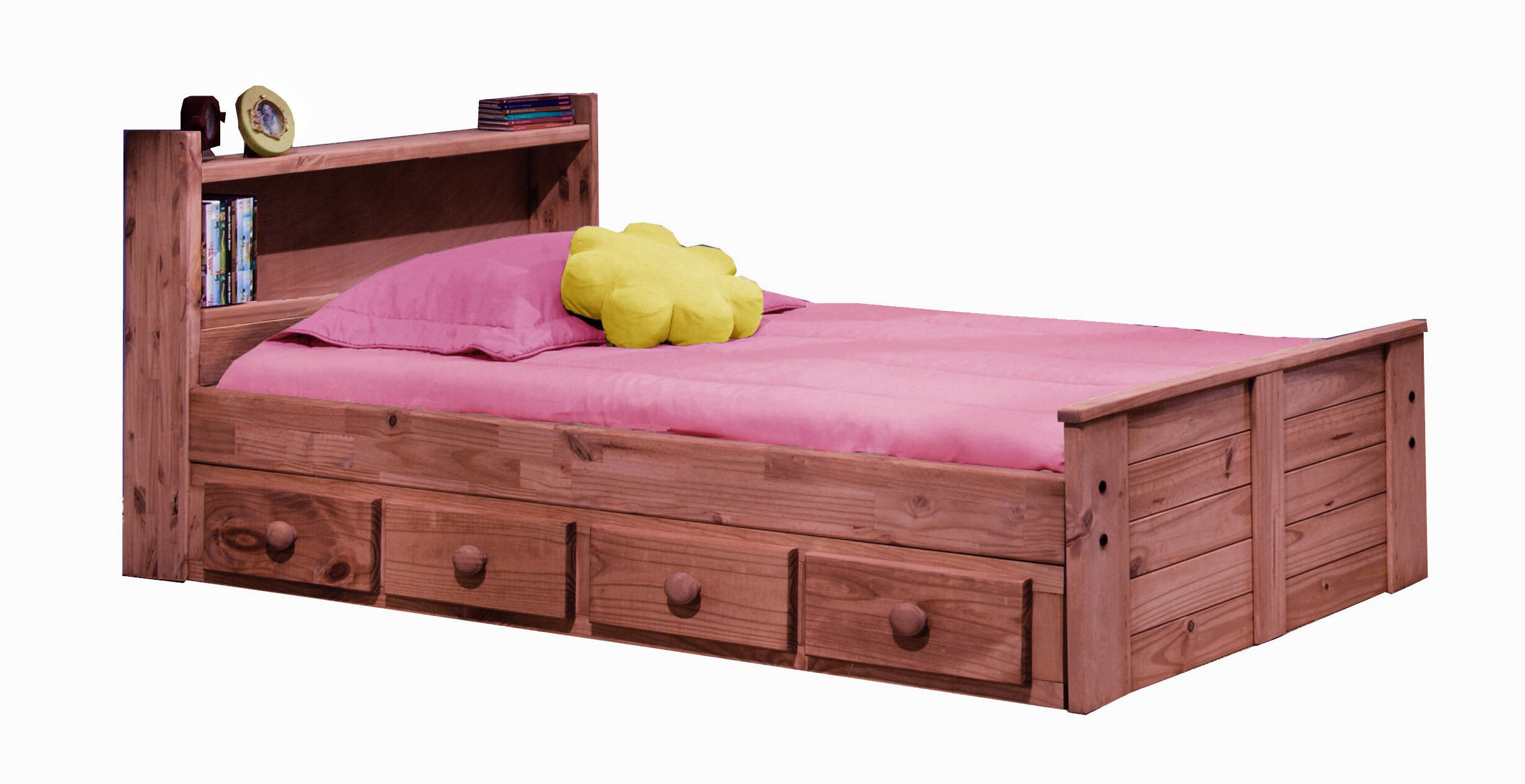 Chiu Twin Mate S Captain Bed With Bookcase Headboard And Storage