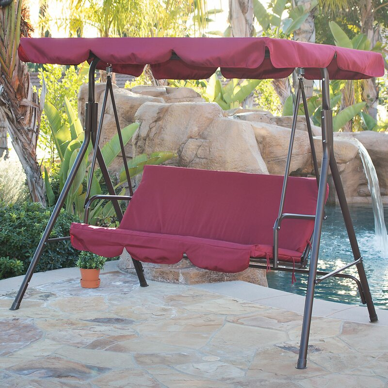 Canopy Porch Swing With Stand