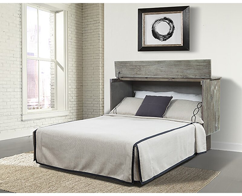 Sa Ash Queen Storage Murphy Bed With Mattress