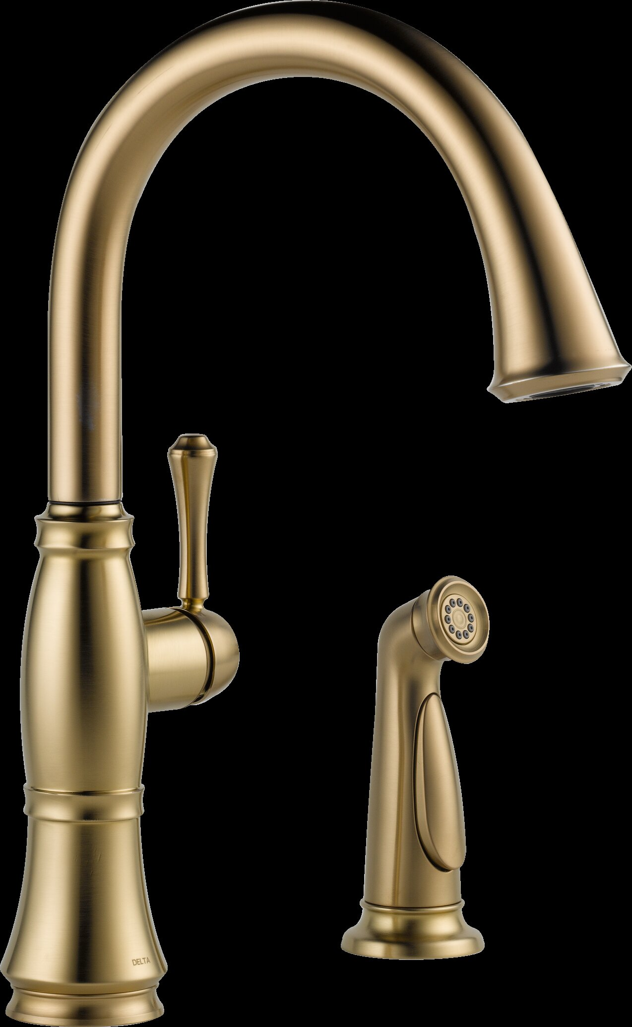 Delta Cassidy Single Handle Kitchen Faucet with Side Spray and ...