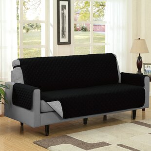 Symple Stuff Reversible Quilted Box Cushion Sofa Slipcover
