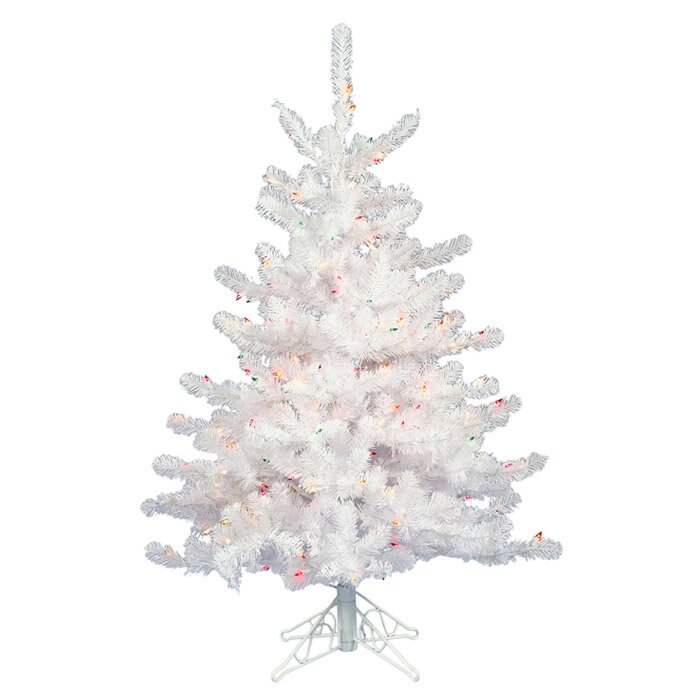 3' White Artificial Christmas Tree with 45 LED Warm White Lights