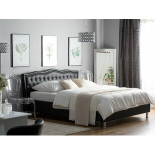 European Kingsize (160 X 200 Cm) Upholstered Platform Bed By Willa Arlo Interiors