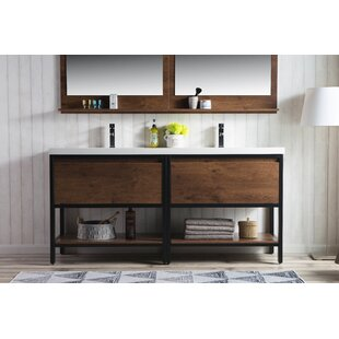 Sandra 72 Double Bathroom Vanity Set by Modern Rustic Interiors