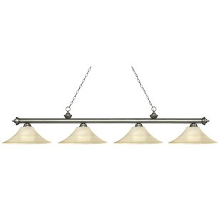 Zephyr 4-Light Bell Shade Billiard Light by Red Barrel Studio