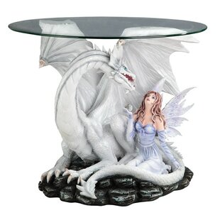Fairy and Dragon Glass Indoor Table by Ma..