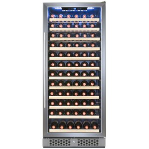 127 Bottle Adjustable Single Zone Convertible Wine Cellar by AKDY