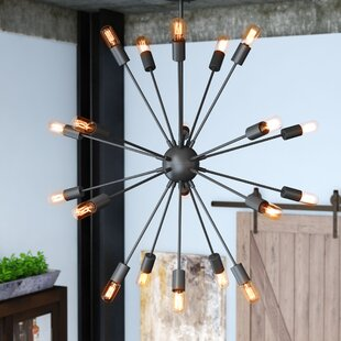 17 Stories Hardik Beam Stainless Steel 20-Light Chandelier