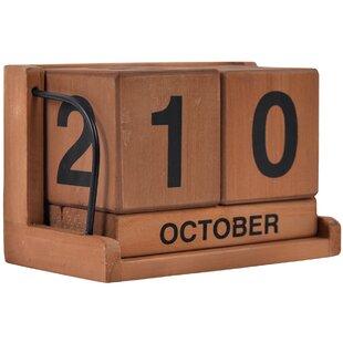 0d88cb205c62 Wood Block Calendar | Wayfair