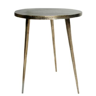 World Menagerie Candleick Cast Aluminum Tripod End Table
