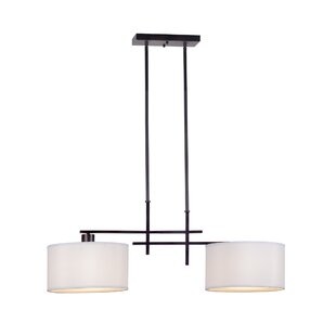 World Menagerie Kael 2-Light Kitchen Island Pendant