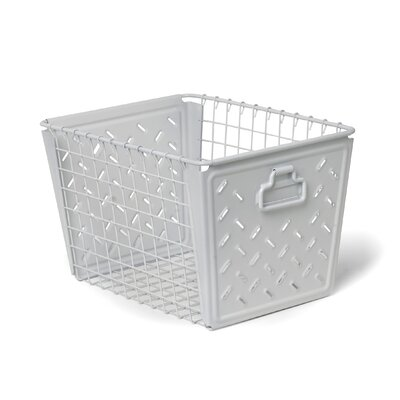 Turn on the Brights Metal Basket Color: White
