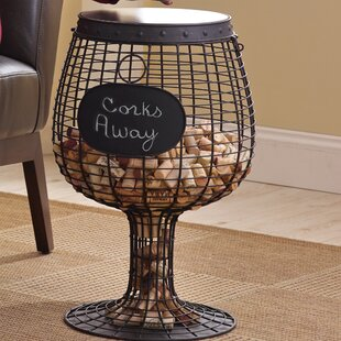 Wine Enthusiast Wine Glass Cork End Table