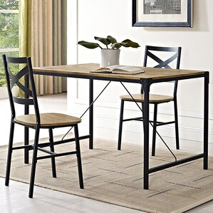 Awesome Madeline Angle Iron And Wood Dining Table