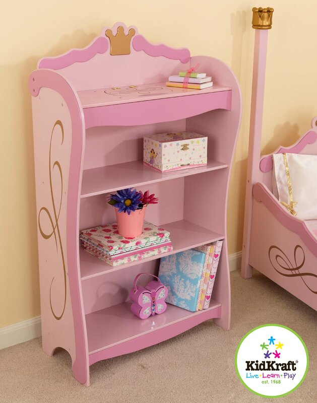 "kidkraft princess 42.5"" bookcase & reviews 