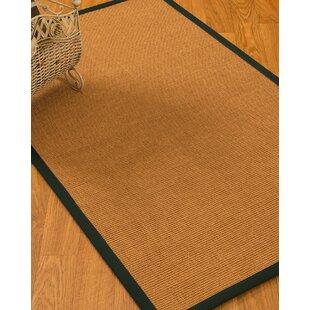 Buy luxury Kemble Border Hand-Woven Brown/Onyx Area Rug ByBayou Breeze