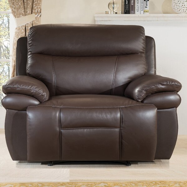 Hyde Line Furniture Boston Leather Layflat 1.5 Seater Snuggler Recliner Chair u0026 Reviews | Wayfair.co.uk & Hyde Line Furniture Boston Leather Layflat 1.5 Seater Snuggler ... islam-shia.org
