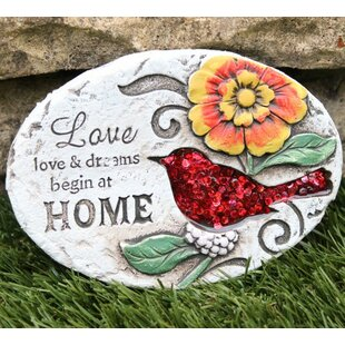 Bird Sequinned Stepping Stone By Happy Larry