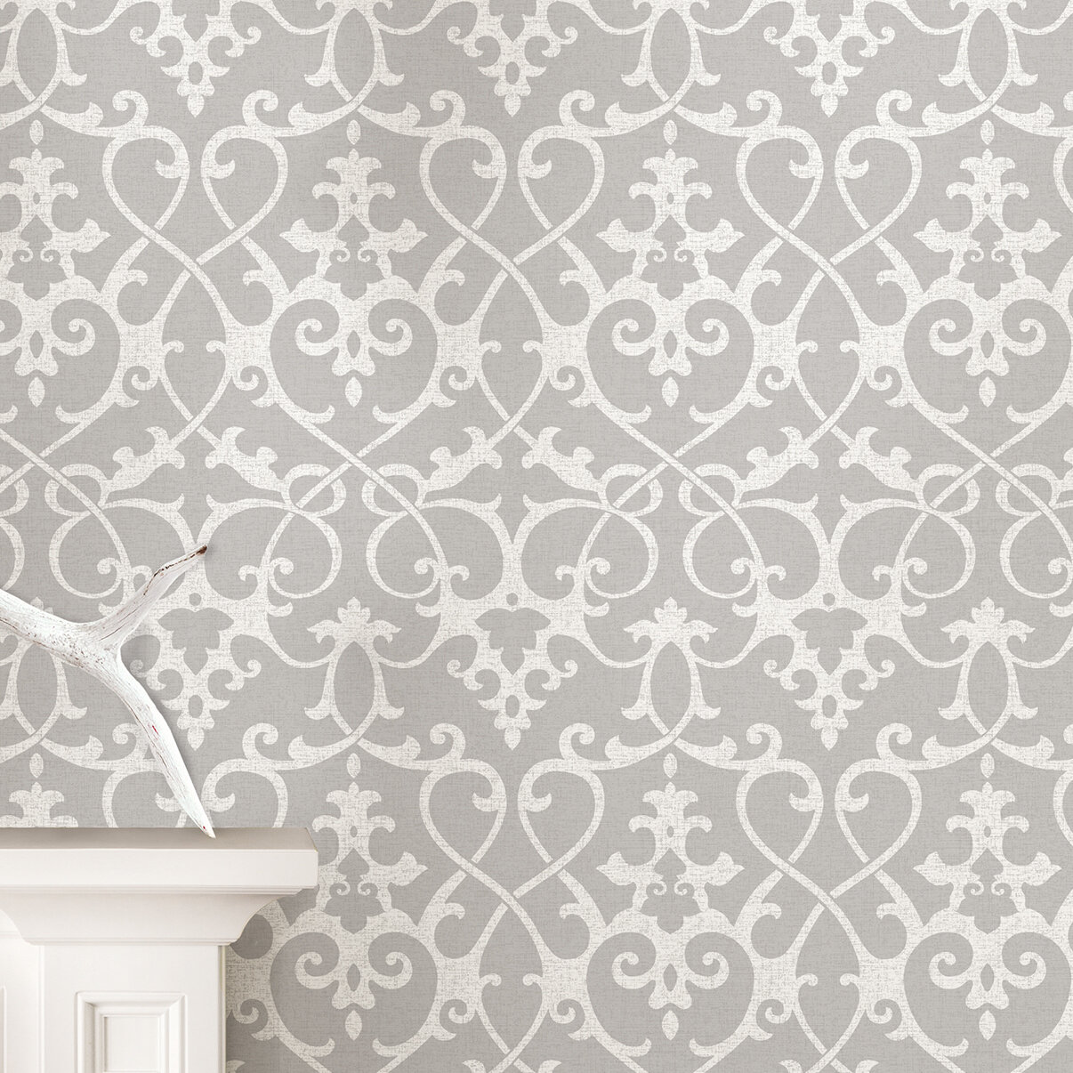 Nu 18 X 20 5 Ironwork Gray Peel And Stick Wallpaper