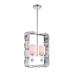 CWI Lighting Squill 2-Light Crystal Chandelier