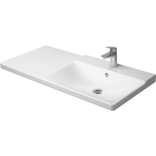 Read Reviews P3 Comforts Ceramic Rectangular Vessel Bathroom Sink with Overflow By Duravit