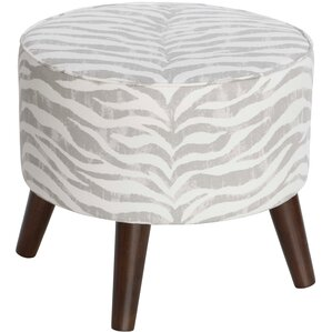 Maryam Round Ottoman with Splayed Legs by Bungalow Rose