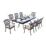Calhoun 9 Piece Dining Set with Cushions