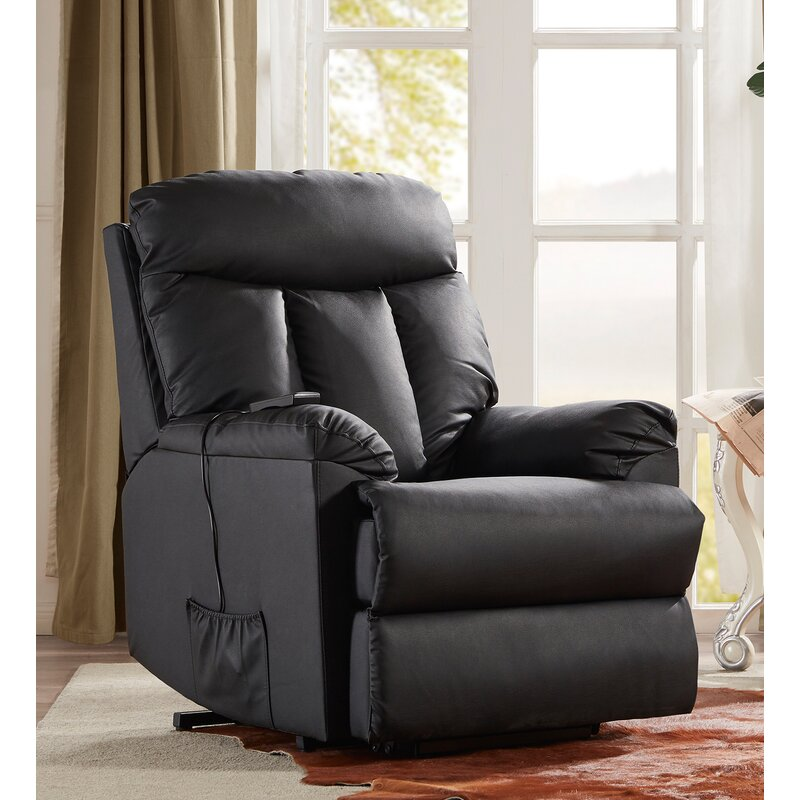 Red Barrel Studio Canoby Faux Leather Power Lift Assist Recliner Wayfair