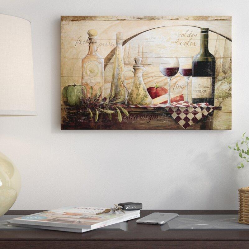 Fleur De Lis Living \'Tuscan Vineyard Wine\' Graphic Art Print on ...