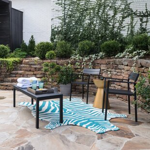 Zayas Turquoise Indoor/Outdoor Area Rug