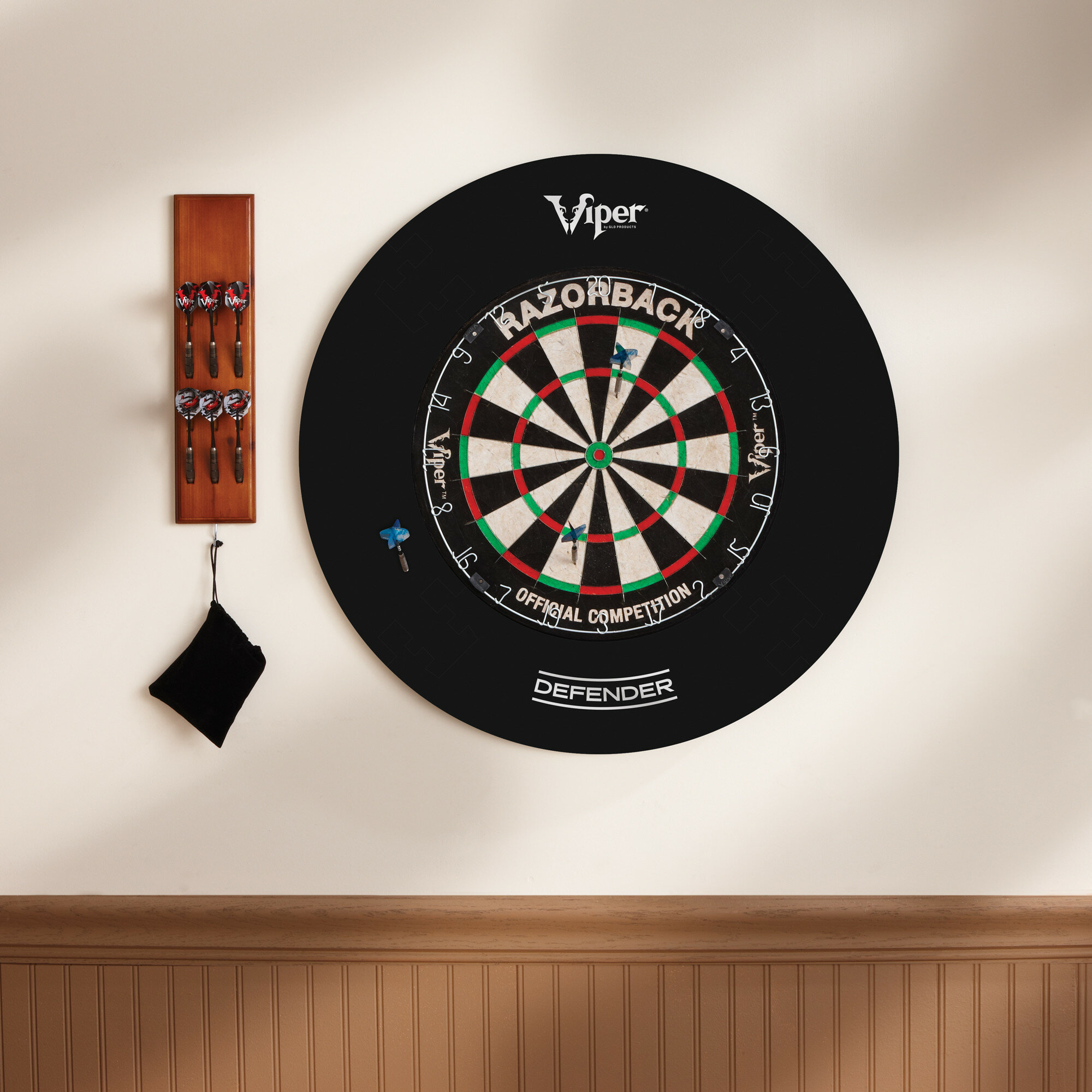Viper by GLD Products Guardian Dartboard Surround Sisal//Bristle Steel-Tip Dartboard Wall Protector