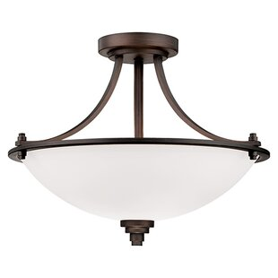 Andover Mills Castano 3-Light Semi-Flush Mount