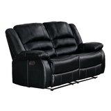 Jianyu Reclining 62 Pillow Top Arm Love Seat by Red Barrel Studio®