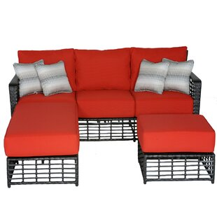 Melrose Sectional with Cushions by Meadow Decor