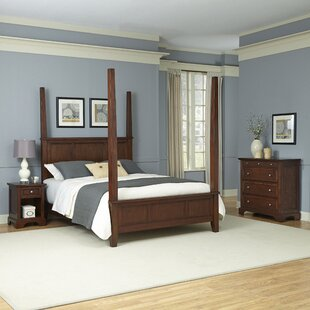 Borden Four Poster 3 Piece Bedroom Set by Three Posts