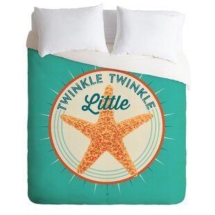 East Urban Home Twinkle Twinkle Little Star Duvet Cover Set