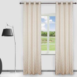 Clarabelle Geometric Room Darkening Curtain Panels (Set of 2) by Rosdorf Park