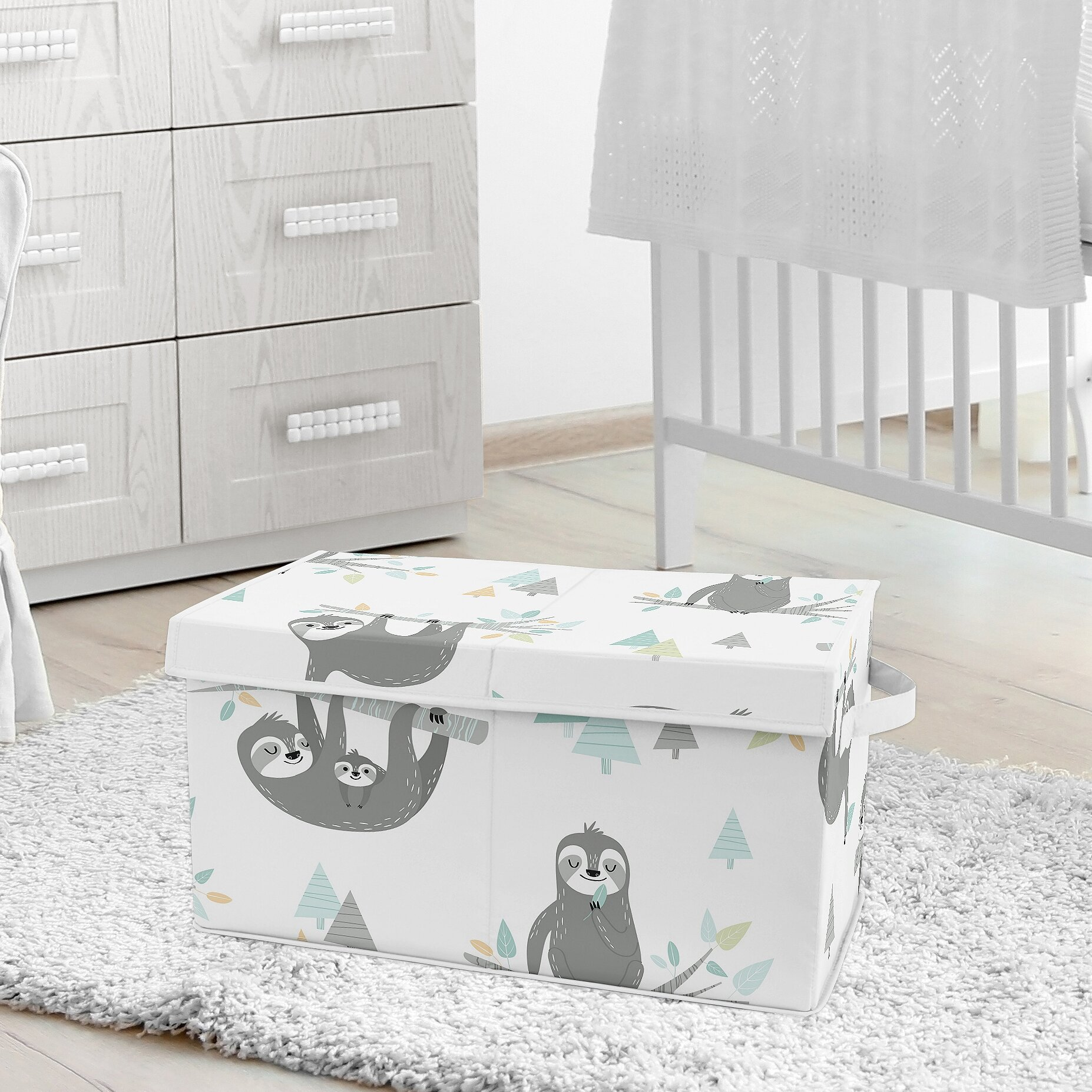 Sweet Jojo Designs Sloth Toy Box Wayfair